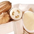 Luffa products, close-up